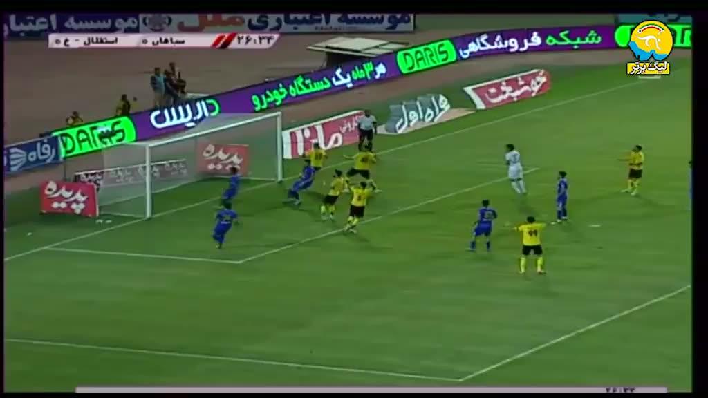 خلاه بازی سپاهان 2-0 استقلال خوزستان