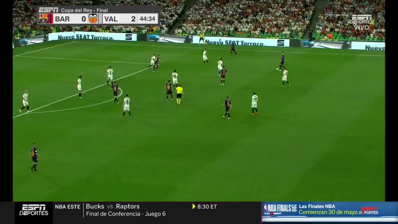 خلاصه بازی بارسلونا 1-2 والنسیا