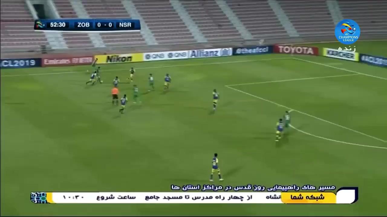 خلاصه بازی ذوب آهن اصفهان 0-0 النصر عربستان