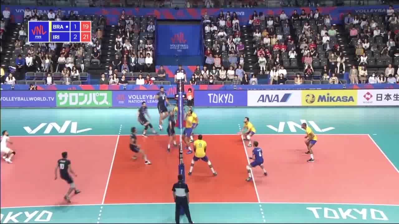 خلاصه والیبال ایران 2-3 برزیل