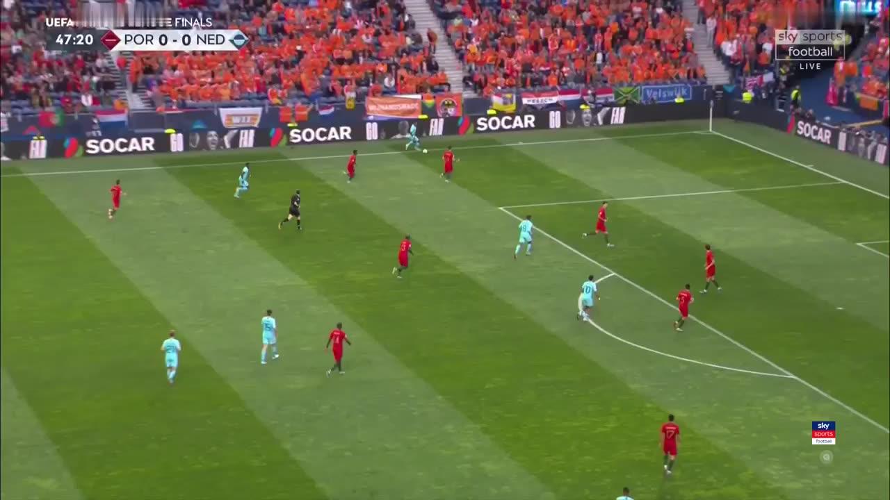 خلاصه بازی پرتغال 1-0 هلند؛ قهرمانی ناپلئونی یاران رونالدو