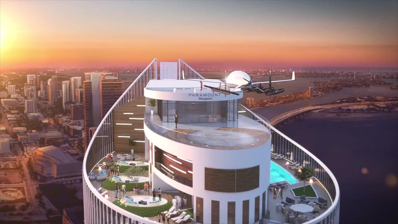 ساخت فضای اختصاصی برای فرود خودرو پرنده در میامی