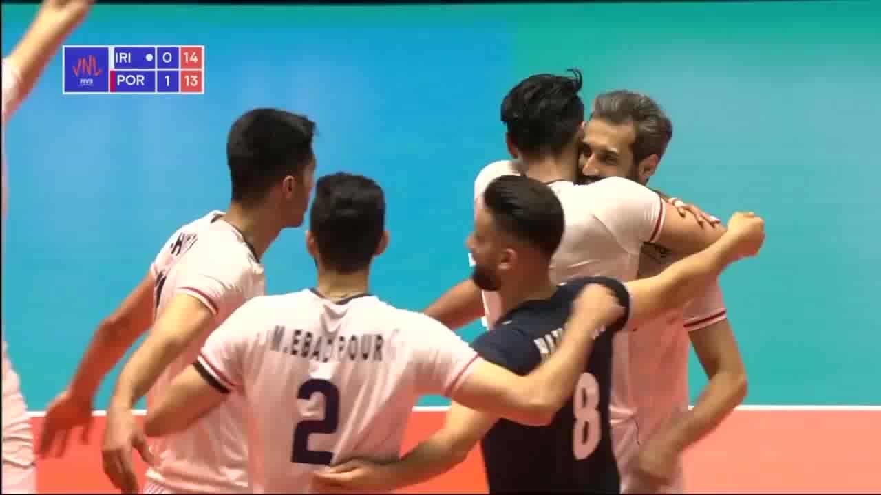 خلاصه والیبال ایران 3-1 پرتغال؛ برد، عادت جدید ملی پوشان