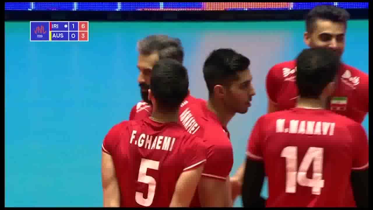 خلاصه والیبال ایران 3-0 استرالیا؛ دهمین پیروزی شاگردان کولاکوویچ در لیگ ملت ها